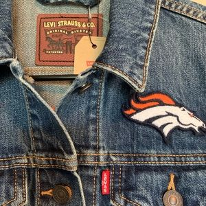 Levi's Jackets & Coats - Denver Broncos Levi's Jean Jacket Size Small